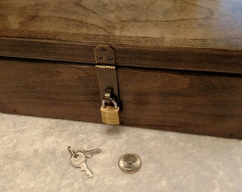 Small Brass Master Lock for Skunk Stash and Keepsake Boxes