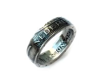 Dutch Coin Ring - Netherlands 1 Gulden - Handmade Rings from Coins - Nederland - Holland - Juliana - souvenir - guilder