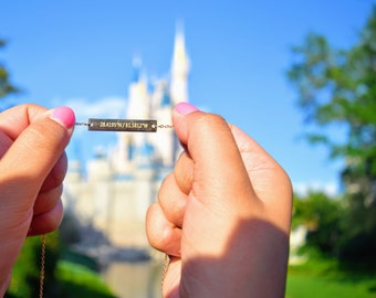 Walt Disney World Coordinates Necklace