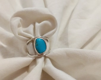 Turquoise Waxing Moon Ring