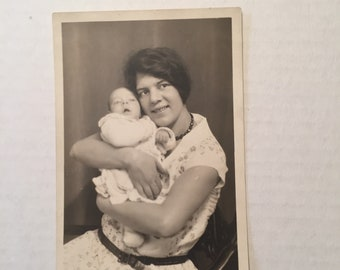 Vintage Photo Mother and baby