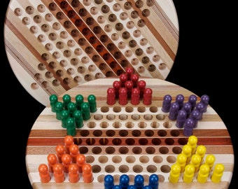 Wooden chinese checker set