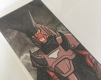 Cale, Warlord of Corruption, Ronin Warriors, Samurai Troopers, Laminated Bookmark or Mini Print