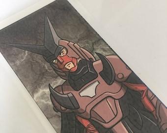 Cale, Seigneur de la guerre de la Corruption, Ronin Warriors, Samurai Troopers, laminé signet ou Mini Print