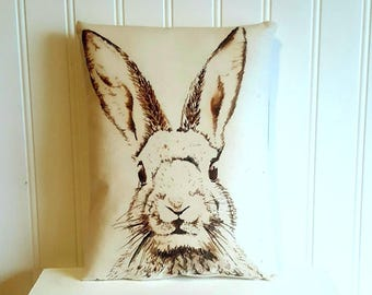 Rabbit pillow | Easter decorations | Farmhouse Decor | Easter Bunny | Rustic | Easter gift | Spring decor | Bunny Pillow | Anthropomorphic