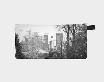 Downtown Calgary Pencil Case , Black & White, Made in Canada
