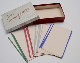 vintage postcards / notecards set of 26 - Rytex brand card-o-grams in box