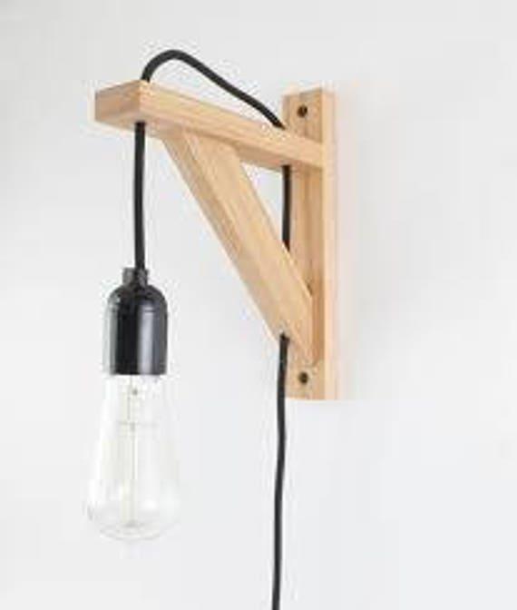 Wood Shelf Bracket Light