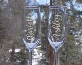Personalized Champagne Fl...