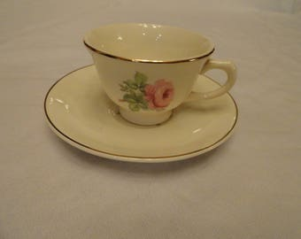 1940.s Single Pink Rose Taylor, Smith & Taylor Cup and Saucer
