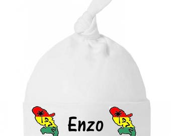 Personalized with name Martinique knot baby Hat