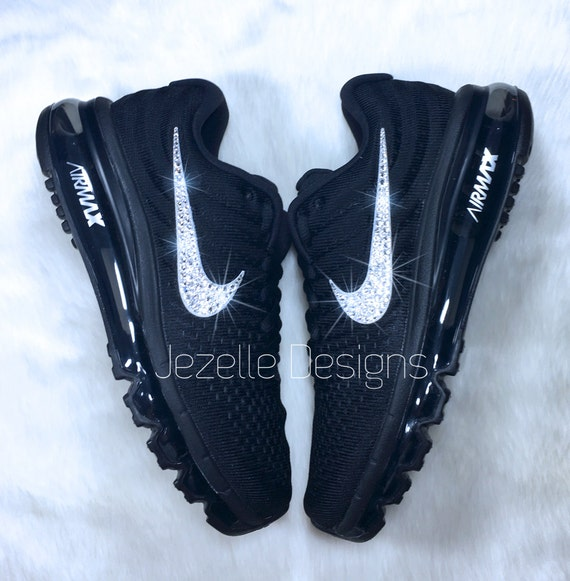 Nike Air Max 2017 Bling Shoes with Swarovski Crystals  NEW