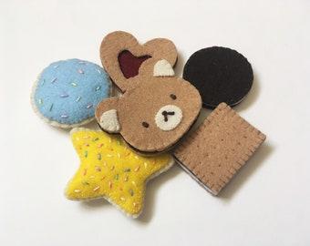 Handmade Felt Cookie Set
