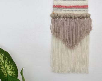Hand Woven Pink/Orange/Brown Wall Hanging