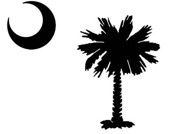 Palmetto Tree and Moon SVG