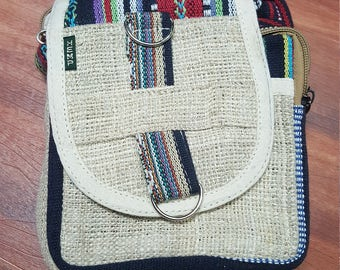 Hemp Over Shoulder Bag - Cross Body Bag - 100% Hemp