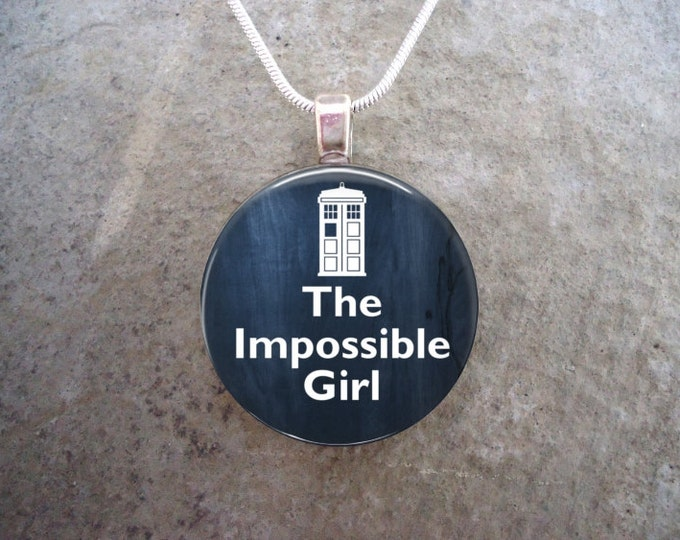 Doctor Who Jewelry - Glass Pendant Necklace - The Impossible Girl