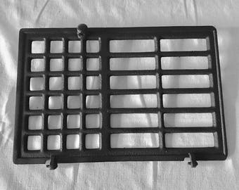 Beautiful Antique Grate Heater Wall Cast iron Grate architectural wall decor Stunning Simple Squares in Rectangular grate