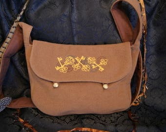 Big shoulder bag-huge shoulder bag key ornament