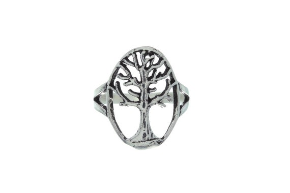 Sterling Silver Tree Of Life Ring, Tree Ring, Boho Jewelry