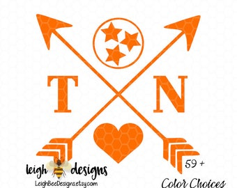 Tennessee Love, Cross Arrow, The Volunteer State Decal, Vinyl Decal, Vinyl Sticker, Cross Arrow Decal, The Volunteer State, Car Decal