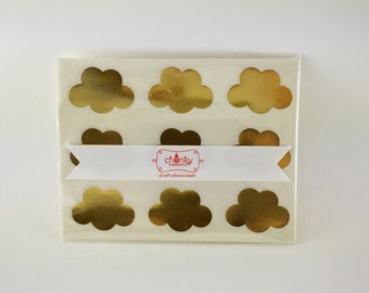 Cloud Stickers - Gold foil or Kraft