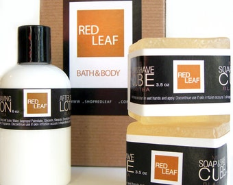 Mens Shaving Gift Set, Brother, Groom, Uncle, Red Leaf Seattle