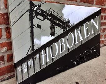 Gallery wrapped print 18x33, Hoboken bridge, NJ