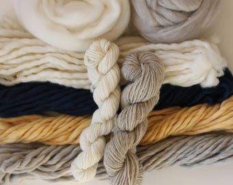 Weavers pack 310 grams (10.9 oz) 100% natural yarn, BABY CAKES...