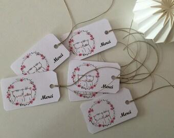 set of 6 labels David Michou: thank you