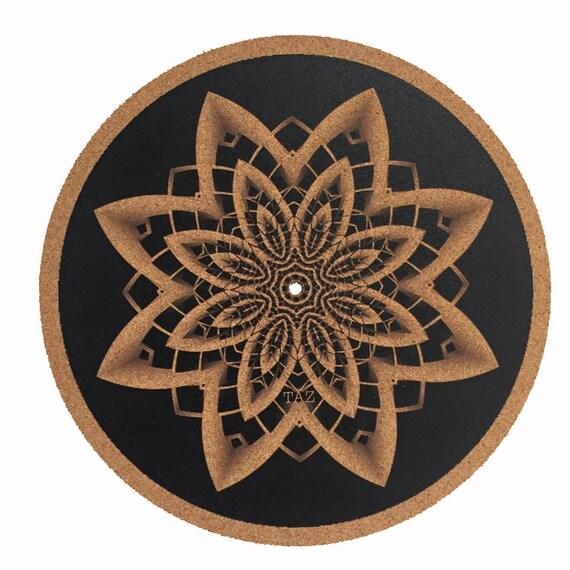 Turntable Slipmat Specially Designed Cork Geometrical Taz