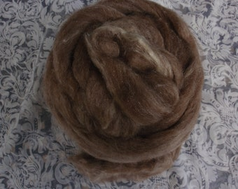 "8 oz  Shetland-Alpaca-Silk  Roving  - ""Moonlight Sonata"""