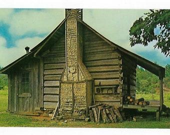 Vintage Postcard, Log Cabin in the Ouachita Mountains, Souvenir, Ephemera