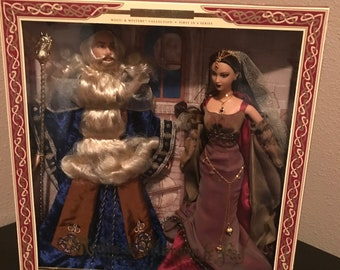 Ken and Barbie as Merlin and Morgan leFay