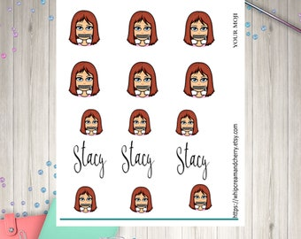 Emoji avatar, selfie Custom made for you planner stickers - on glossy paper