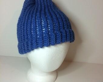 Blue Crochet  Winter Hat