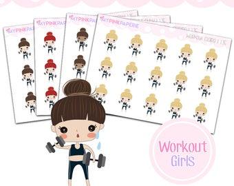 135 | Workout Girls | Cute Girl Stickers