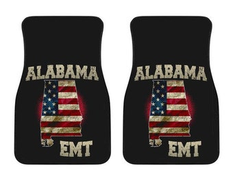 Alabama/EMT/American Flag/Car/Truck/SUV/Auto/RV/Floors Mats/Gifts/State Flag/Art/Home