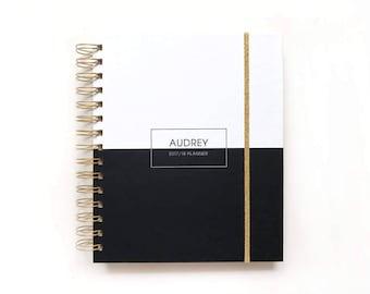 Agenda 2018 - 2018 Agenda  - Planner 2018 - Daily Planner - Weekly Planner - 2018 Weekly Planner - Personalized Planner - Monthly Planner