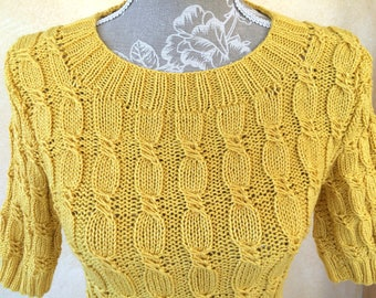 Long sweater, yellow, size 38/40