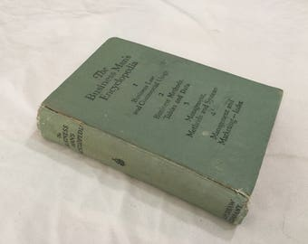 The Business Man's Encyclopedia Volumes 1-4 1927 Book Four Volumes in one