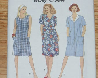 Vintage Retired Simplicity Easy to Sew Uncut Dress  Pattern 8409  Size Misses AA Pt  to Md