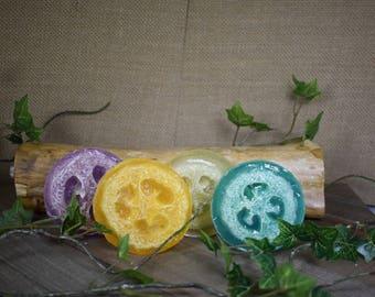 Organic Olive Oil Loofah Soap