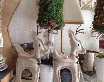 Vintage sack reindeer/ rustic reindeer/ rustic christmas decor