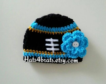 Jacksonville Jaguars Hat, Baby Girl Jaguars Hat, Newborn Football Hat, Baby Jacksonville Jaguars, Crochet Jaguars Baby Hat, Jaguars Photo