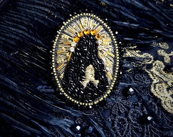 "Cult Treasures ""The Virgin Mary"" brooch / aristocrat, gothic lolita, ouji brooch"