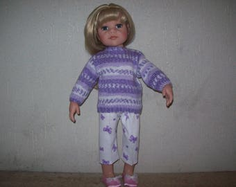 clothes for dolls Hanna Götz Capri pants and sweater (50 cm)
