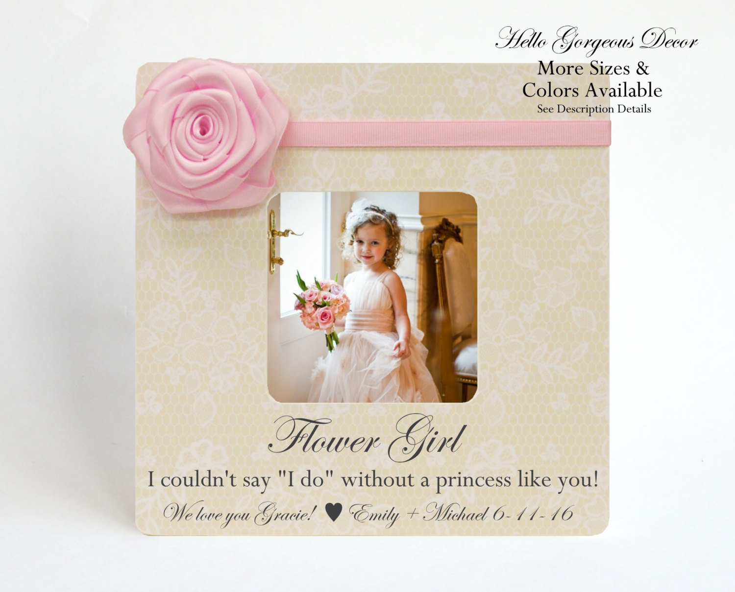 Flower Girl Frame Proposal I couldn\'t say I DO without