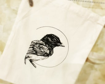 Willy Wagtail canvas bag
