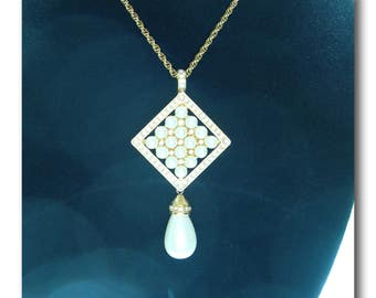 Joan Rivers Classic Collection pin/pendant necklace